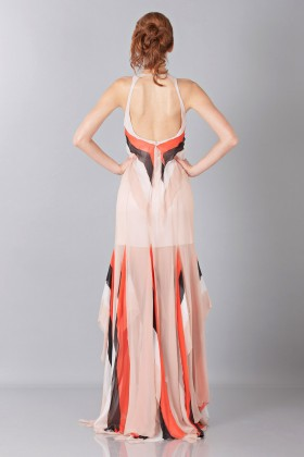 Striped floor-length dress - Blumarine - Sale Drexcode - 2