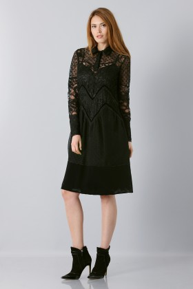 Lace dress with sleeves - Rochas - Sale Drexcode - 1