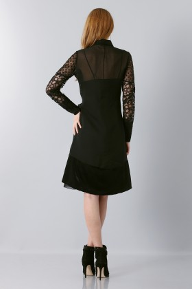 Lace dress with sleeves - Rochas - Sale Drexcode - 2