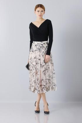 Longuette skirt patterned with swallows - Rochas - Sale Drexcode - 2