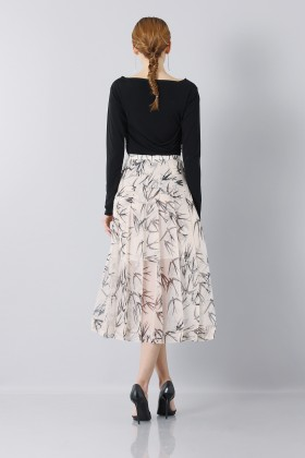Longuette skirt patterned with swallows - Rochas - Rent Drexcode - 2