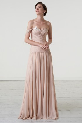Nude one-shoulder dress - Iris Noble - Rent Drexcode - 1