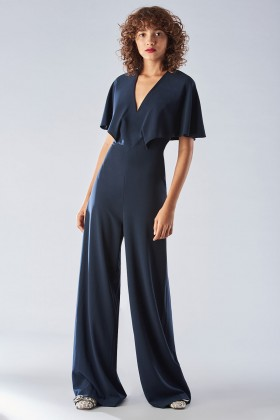 Jumpsuit with short sleeves and V-neck - Halston - Rent Drexcode - 2