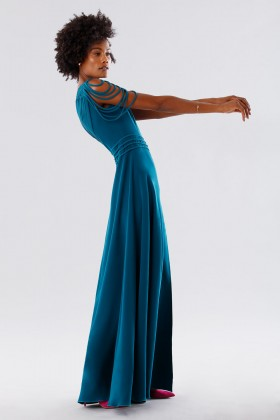 Dark teal dress with applications - Kathy Heyndels - Rent Drexcode - 2