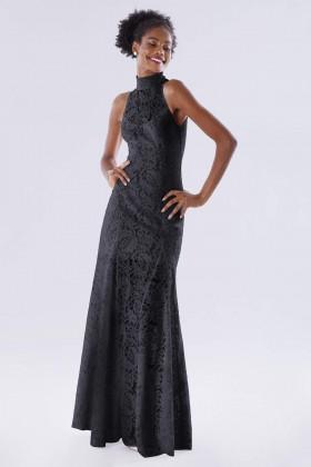 Black high neck lace dress - Kathy Heyndels - Rent Drexcode - 1