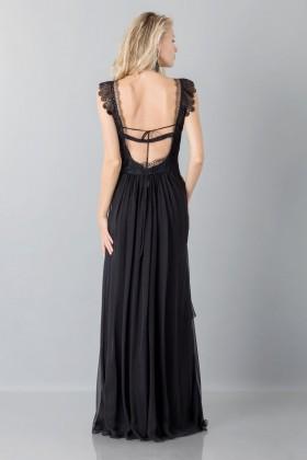 Long black dress with lace neckline - Alberta Ferretti - Rent Drexcode - 2