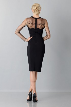 Black dress with lace decorations and plumetis - Blumarine - Rent Drexcode - 2