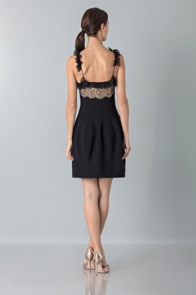 Dress with shoulder straps of processed lace - Blumarine - Sale Drexcode - 2