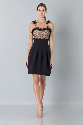 Dress with shoulder straps of processed lace - Blumarine - Sale Drexcode - 1