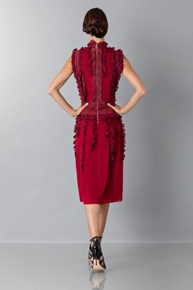Short dress with overlaid lace - Antonio Berardi - Sale Drexcode - 2
