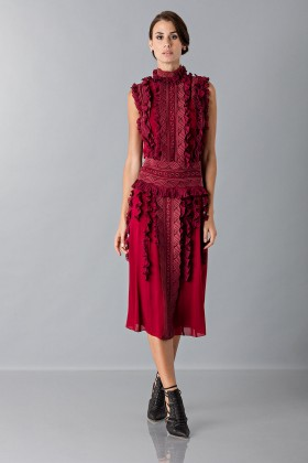 Short dress with overlaid lace - Antonio Berardi - Sale Drexcode - 1