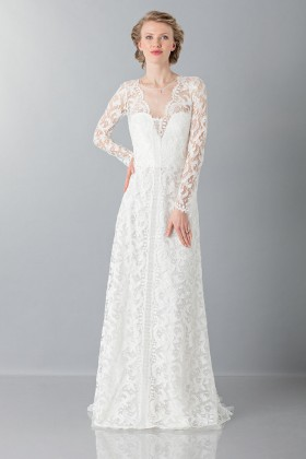 Lace wedding dress - Alberta Ferretti - Rent Drexcode - 1