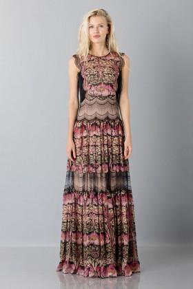 Silk and lace chiffon dress - Alberta Ferretti - Rent Drexcode - 1