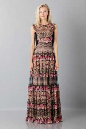Silk and lace chiffon dress - Alberta Ferretti - Sale Drexcode - 1