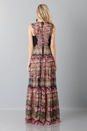 Silk and lace chiffon dress - Alberta Ferretti - Sale Drexcode - 2