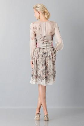 Silk chiffon dress with floral pattern - Alberta Ferretti - Rent Drexcode - 2