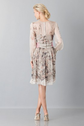 Silk chiffon dress with floral pattern - Alberta Ferretti - Sale Drexcode - 2