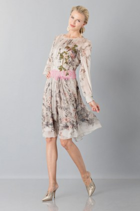 Silk chiffon dress with floral pattern - Alberta Ferretti - Sale Drexcode - 1