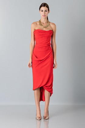 Silk red dress - Vivienne Westwood - Rent Drexcode - 1