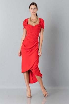 Silk red dress - Vivienne Westwood - Rent Drexcode - 2