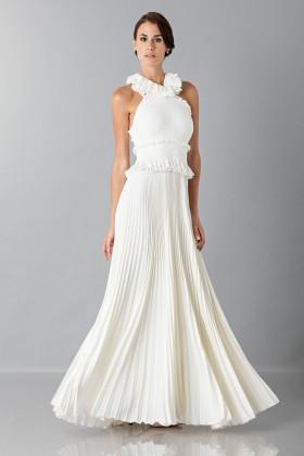 Long white dress with ruffles - Antonio Berardi - Rent Drexcode - 1