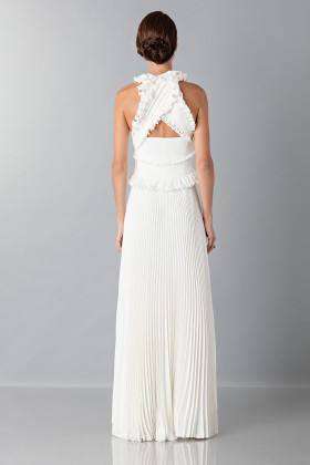 Long white dress with ruffles - Antonio Berardi - Rent Drexcode - 2