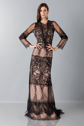 Long dress with lace decorations - Alberta Ferretti - Sale Drexcode - 1