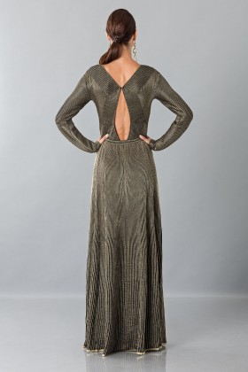 Long sleeve dress with golden textures - Vionnet - Rent Drexcode - 2