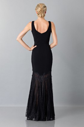 Black dress with transparent lace skirt - Theia - Rent Drexcode - 2