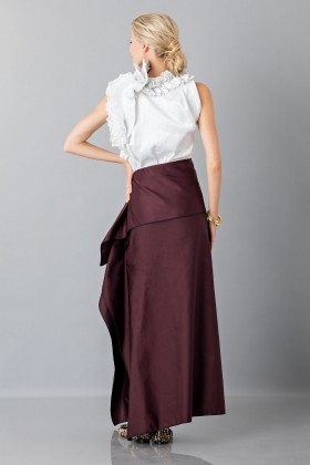 Bordeaux skirt with anterior drapery - Albino - Rent Drexcode - 2
