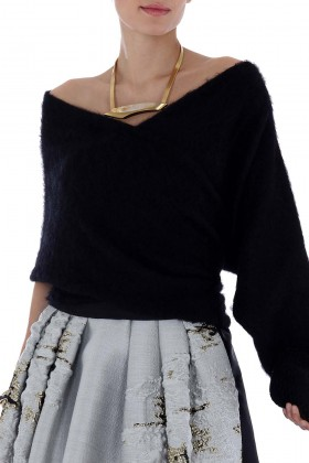 Cashmere stole with sleeve - Alberta Ferretti - Rent Drexcode - 1