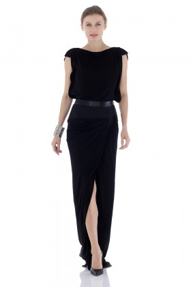 Long dress with leather inserts - Vionnet - Rent Drexcode - 1