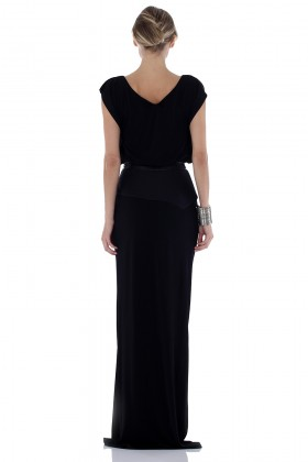 Long dress with leather inserts - Vionnet - Rent Drexcode - 2