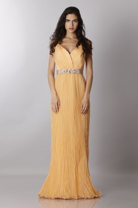 Peach chiffon dress - Alberta Ferretti - Sale Drexcode - 1
