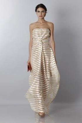 Golden stripes long dress - Vionnet - Rent Drexcode - 1