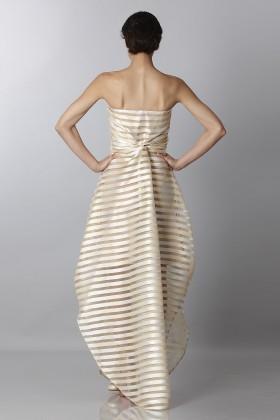 Golden stripes long dress - Vionnet - Rent Drexcode - 2