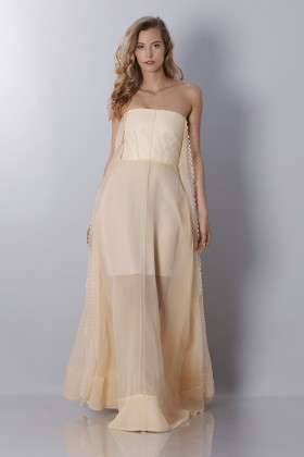 Ivory bustier dress - Rochas - Sale Drexcode - 1