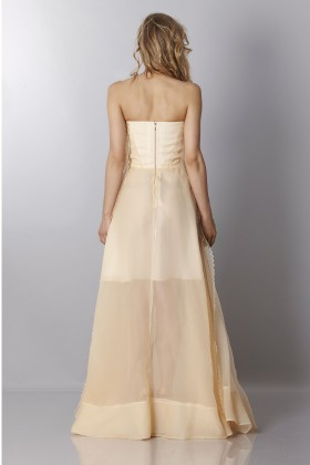 Ivory bustier dress - Rochas - Rent Drexcode - 2