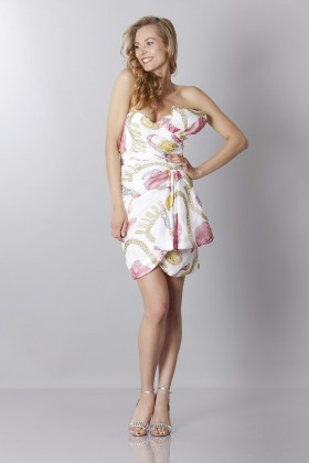 Silk printed bustier dress - Moschino - Sale Drexcode - 2