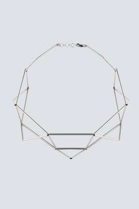 Rhodium-plated necklace in the shape of origami - Noshi - Sale Drexcode - 1