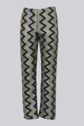 Alcoolique high-waisted trousers with geometric pattern - Alcoolique - Rent Drexcode - 1