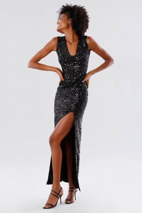 Sequined dress with square neckline - Paule Ka - Rent Drexcode - 2