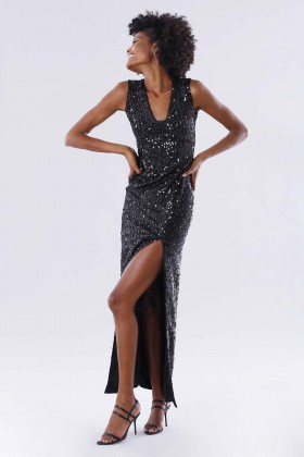 Sequined dress with square neckline - Paule Ka - Rent Drexcode - 1