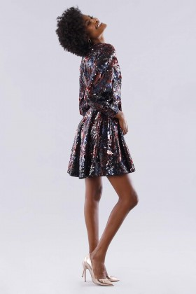 Dress in multicolored sequins - Paule Ka - Rent Drexcode - 2