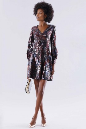 Dress in multicolored sequins - Paule Ka - Rent Drexcode - 1