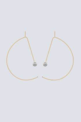 Reversible gold and palladium earrings - Noshi - Sale Drexcode - 2