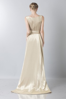 Gown with shiny golden texture - Ports 1961 - Rent Drexcode - 2