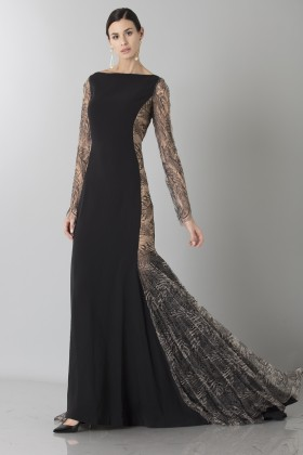 Long dress with side transparencies - Ports 1961 - Sale Drexcode - 1
