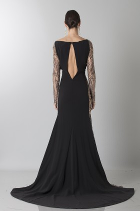 Long dress with side transparencies - Ports 1961 - Sale Drexcode - 2