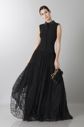 Long dress with side transparencies - Ports 1961 - Rent Drexcode - 1